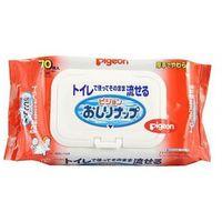 PIGEON Детские влажные гигиенические салфетки, мягкая упаковка с клапаном, 70 шт. (А)