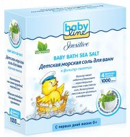 BABYLINE SENSITIVE Морская соль с целебными травами 1000гр. (4*250гр.) фильтр-пакет (А)