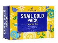 MUKUNGHWA  Мыло туалетное твердое «Rossom» для ухода за лицом со слизью улитки «Snail Gold Pack», кусок 85гр.