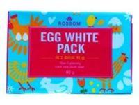 "MUKUNGHWA  Мыло туалетное твердое «Rossom» для ухода за лицом с лецитином ""Egg White Pack soap"" , кусок 80гр."