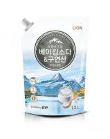 LION Средство для мытья посуды Chamgreen с содой и лимонной кислотой, мягкая уп, 1200 гр (А)