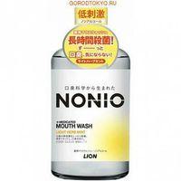 "LION  ""Nonio""  Профилактический зубной ополаскиватель  (без спирта, легкий аромат трав и мяты, длительная защита от неприятного запаха), флакон 600мл."