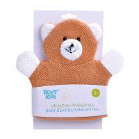 ROXY-KIDS Мочалка-рукавичка махровая Baby Bear хлопковая ткань (А)