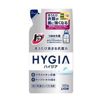 LION.   Top HUGIA.  Жидкое антибактериальное концентрированное средство для стирки белья с ароматом мяты, запаска 360гр.