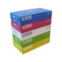 """NIPPON  Салфетки Crecia """"Scottie"""" двухслойные цветные пачки 200шт,*5пачек"""