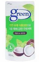 """PIGEON  """"Green"""" Средство для мытья посуды  «Травы и кокос» (на натуральной основе) 300мл, (запасной блок)"""
