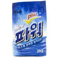 """WELGREEN  Стиральный порошок """"New Power Plus"""" (ферментный, отбеливающий, с легким ароматом) М/У 2 кг."""