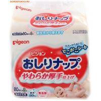 PIGEON Детские влажные салфетки с лосьоном, запасной блок, 80*3 шт (А)