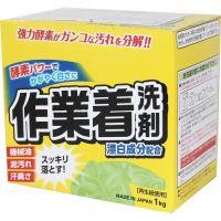 MITSUEI  Мощный стиральный порошок с ферментами и отбеливателем для сильных загрязнений (в т.ч. на рабочей одежде, дезодорирующий) 1кг