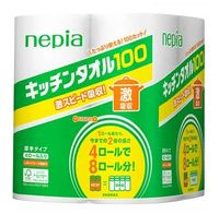 NEPIA Кухонные бумажные полотенца 4 ролла по 100 листов (А)