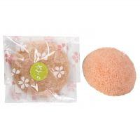Yamamoto Farm Corporation  Спонж Конняку для умывания лица с экстрактом листьев сакуры, 1шт.