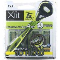 """KAI Мужской бритвенный станок с плавающей 3D головкой и пятью лезвиями """"Xfit"""" (+4 кассеты)"""