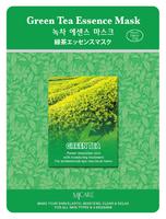 MJ Care Маска для лица с экстрактом Зеленого чая (А)