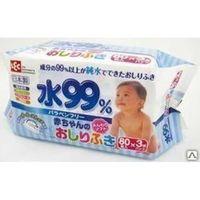 iPLUS Влажные салфетки для новорожденных, мягкая упаковка, 3* 80шт.  (3 пачки по 80 шт.)  (А)