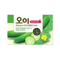 """MUKUNGHWA """"Moisture Cucumber Soap""""  Увлажняющее мыло с экстрактом огурца, кусок 100гр."""