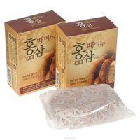"""MUKUNGHWA  Целебное омолаживающее и отшелушивающее мыло для тела c женьшенем и скорлупой грецкого ореха """"Red Ginseng"""", кусок 100гр."""