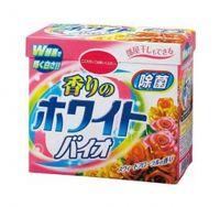 NIHON.  White Bio Plus Antibacterial.   Стиральный порошок с кондиционером со сладким цветочным ароматом, коробка 900гр.