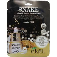 EKEL ULTRA HYDRATING ESSENCE MASK SNAKE  Ультраувлажняющая тканевая маска для лица с Змеиным Пептидом, для всех типов кожи 25г.