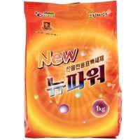 """WELGREEN  Стиральный порошок """"New Power"""" (ферментный, с легким ароматом) М/У 1 кг."""