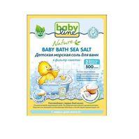 BABYLINE NATURE Соль морская НАТУРАЛЬНАЯ для ванн, 2 шт фильтр-пакета, 500 гр. (А)