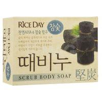 CJ Lion Скраб-мыло туалетное Rice Day, древесный уголь, 100 гр (А)