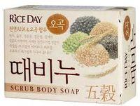 CJ Lion Скраб-мыло туалетное Rice Day с экстрактом пяти злаков, 100 гр(А)