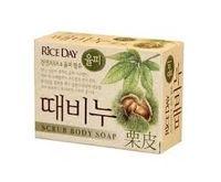 CJ Lion Скраб-мыло туалетное Rice Day, земляной орех, 100 гр (А)