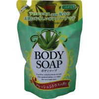 "NIHON  Крем-мыло для тела ""Wins Body Soap aloe"" с экстрактом алоэ и богатым ароматом М/У (запаска), 400мл."