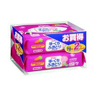 PIGEON Детские влажные салфетки (для рук и лица), запасной блок 70*2 шт. (А)