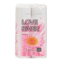 """IDESHIGYO Туалетная бумага двухслойная """"LOVE RIVER"""", двухслойная, белая, 27.5 м, 12 рулонов (А)"""