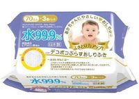 iPLUS Детские влажные салфетки 99,9% воды с гиалуроновой кислотой, рифленые 70 шт, мягкая упаковка (А)