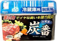 KOKUBO Дезодорант-поглотитель неприятных запахов, с древесным углём, для холодильника (общая камера), 150 гр
