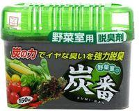 KOKUBO Дезодорант-поглотитель неприятных запахов, с древесным углем, для холодильника (овощная камера), 150 г