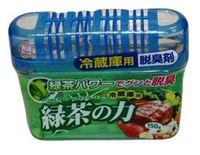 KOKUBO Дезодорант-поглотитель неприятных запахов, экстракт зелёного чая, для холодильника (общая камера), 150г
