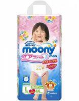 MOONY трусики для девочек  L (9-14 кг) 44 шт (А)