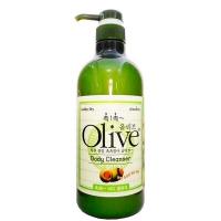 Гель для душа Olive с экстрактом оливы для сухой кожи, также подходит для всех типов кожи, 750мл