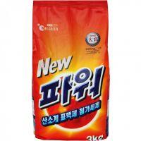 """WELGREEN  Стиральный порошок """"New Power Detergent"""" (ферментный, с легким ароматом) М/У 3 кг."""