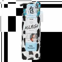 MILRISH Шампунь-уход бессиликоновый с молочными протеинами Блеск и Объем, 500 мл (А)