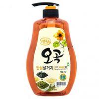 """Mukunghwa Увлажняющее средство для мытья посуды, овощей и фруктов в холодной воде """"5 злаков"""" 750мл"""
